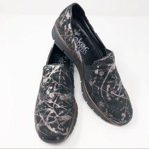 Rieker Paint Splatter Doris Slip On Shoes